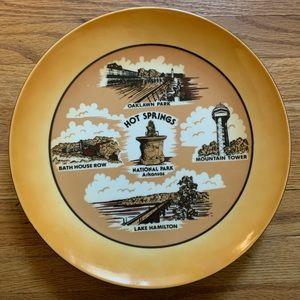 Vintage Arkansas Hot Springs Souvenir Plate
